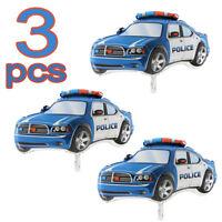 POLICE CAR 32'' (80cm X 53cm) foil mylar balloon Supershape (3 pcs PACK)