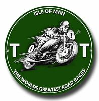 """I.O.M TT THE WORLDS GREATEST ROAD RACES ROUND 11""""METAL SIGN.MOTORCYCLE ROAD RACE"""