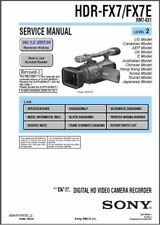 SONY HDR-FX7 FX7E SERVICE & REPAIR MANUAL