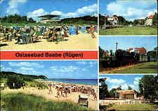 BAABE Insel Rügen DDR Mehrbild-AK gelaufen ua. mit Rasender Roland, Konzertplatz