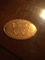 """Houston museum butterfly pressed smashed elongated penny """"Free Shipping""""A100"""