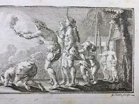 Indiens d'Amérique 1723 Cérémonie Calumet de la Paix Baie d'Hudson Rare Gravure