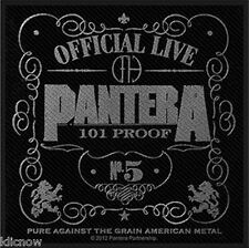 "Pantera 101 Proof Woven (Printed) Patch 10cm x 9 cm (4"" x 3 3/4"")"