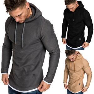 Herren 2in1 Oversize Kapuzenpullover Hoodie Sweatjacke Pullover Sweatshirt 4014