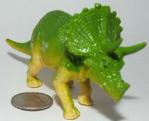 Small Plastic Figure of a Triceratops Dinosaur in Green
