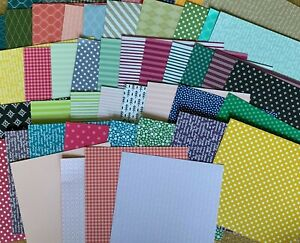 Lot 50 6x6 Monochromatic Patterned Retired Designer Paper squares Stampin' UP!