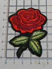 Red Rose Flower (Iron On) Embroidery Applique Patch / Badge-(A-5)