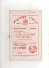 1954-55 ACCRINGTON STANLEY v SOUTHPORT 21st August 1954 Division 3 North