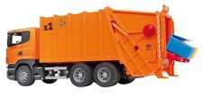 Bruder SCANIA R-Serie Müll  LKW orange  Müllauto Müll Auto Laster 03560