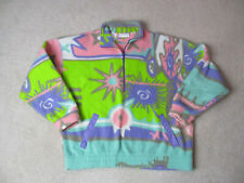 Adidas Sweater Adult Large Green Pink Fleece All Over Print Pull Over Ladies 90s