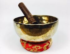 "6"" (Root Chakra) Traditional Hand Made Tibetan Healing Singing Bowl - 670g ॐ"