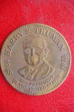 Original United States President Harry S. Truman Commemorative 1972 Bronze Medal