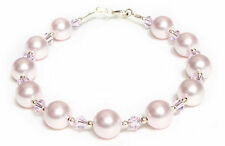 Rosaline Pale Light Pink 8mm Pearl Bracelet made with SWAROVSKI ELEMENTS