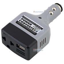 Auto Car Charger Adapter DC 12V a AC convertidor de 220V con cargador USB Power