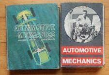 2 Vintage Automotive Mechanics Hardcover Books William Crouse 1960, 1965