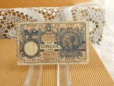 BANCONOTA 5 LIRE REGNO D'ITALIA OTTOBRE 1904 TORINO VITTORIO EMANUELE III