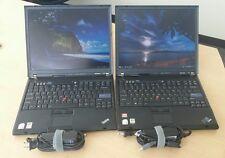 Lot of 2 Lenovo thinkpad T60 laptop Intel CPU 1.83GHz 2GB 80GB HDD WIFI Linux