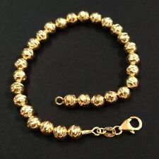 14kt Gold Filled 6mm Hammered Beads Anklet