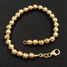 14kt Gold Filled 6mm Hammered Beads Bracelet