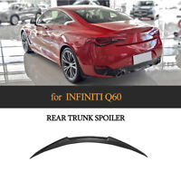 Carbon Fiber Rear Trunk Spoiler Boot Racing Wing Lip For Infiniti Q60 2016-2019