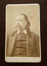 Carte-de-visite photograph portrait of JOSH BILLINGS (HENRY WHEELER SHAW) cdv