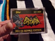 1966 TOPPS BATMAN RED BAT CARDS - DELUXE REISSUE EDITION -  OPENED .FULL BOX
