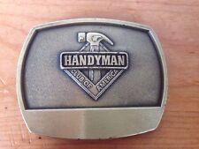 "Handyman Club Of America Solid Brass Chunky 1996 Carpenter Belt Buckle 3.25"""