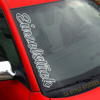 Einzelstück Aufkleber Scheibe  Auto Selfmade Sticker Tuning i love my car  276