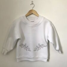 Adidas Stella McCartney Women Jumper Size XS Extra Small White Floral 3/4 Sleeve