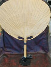 """Ingo Maurer Large """"Uchiwa"""" Rare Table/Wall Lamp"""