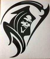 "LARGE 21X18"" grim reaper skull car bonnet side sticker vinyl van graphic decal"