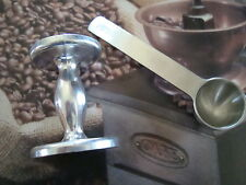 Double Sided Aluminium Coffee Tamper + Stainless Steel Coffee Measuring Spoon