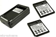 2x replacement battery for tmobile HTC mytouch 4g Thunderbolt Merge wall charger