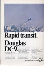 1968 McDonnell Douglas Rapid Transit. DC-9 PRINT AD