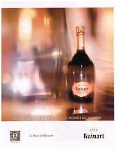 PUBLICITE ADVERTISING   2012    RUINART   CHAMPAGNE ROSE