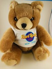"Hard Rock Cafe New York Teddy Bear with T-Shirt 8 1/2"" Sitting Firm Plush"