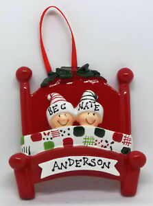 Personalised Christmas Decoration/Ornament - Christmas Bed Series