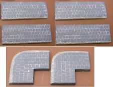 1/35 Scale Set of 4 pavement straight sections and 2 corners