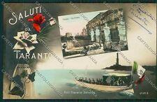 Taranto Città Saluti da Marina Foto cartolina QQ4963