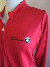 BMW CHAMPIONSHIP ADIDAS CLIMALITE Red Zip Jacket Womens XL Poly Stretch