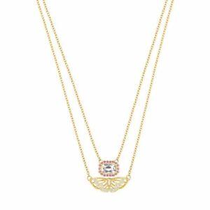 Brand New Swarovski Daphne Layered Necklace Butterfly motif Crystal 5151555