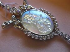 KIRK'S FOLLY Fairy Godmother Pendant Necklace Opalescent Dreamglass RARE / NIB