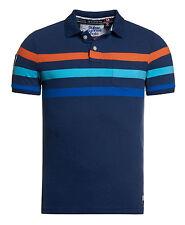 New Mens Superdry Beach Park Polo Shirt Princeton Blue Marl