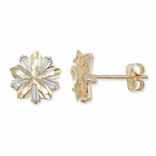 Cubic Zirconia Stud Flowers & Plants Fine Earrings