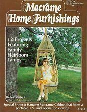 Macrame Home Furnishings Hanging Shelves, Planters, Vintage Pattern Craft Book