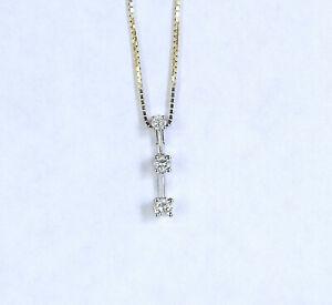 Ladies Estate 3 Diamond Journey Pendant,14K WG, 0.25 Carat Total Diamond Weight