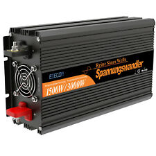 EDECOA Convertisseur 12V 220V convertisseur pur sinus 1500W 3000W 2.1A 5V USB
