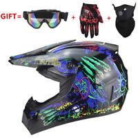 Motorcross Motor Dirt Bike ATV Off Road MTB Motorcycle Helmet Racing Black/Blue