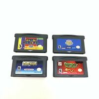 Lot of 4 Nintendo Game Boy Advance GBA Puzzle Games Denki Blocks Pac Man Frogger