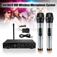 ARCHEER Mini Handheld VHF Wireless bluetooth Microphone System Mixer Karaoke